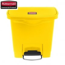 Kosz Slim Jim® Step-On 15L Resin Containers yellow