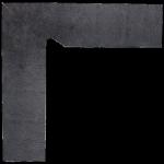 Paradyż Bazalto Grafit Cokół 2 El. - Lewy 8,1x30