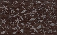 Cersanit Tanaka Brown Inserto Flower 25x40