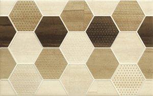Cersanit Mosa Cream Inserto Geo Cubes 25x40