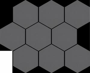 Cerrad Cambia Grafit Lappato Mozaika Heksagon 27,53x33,4