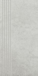 Paradyż Scratch Bianco Stopnica Półpoler 29,8x59,8