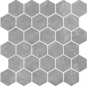 Nowa Gala Silver Grey Poler Mozaika Heksagon 27x27