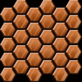 Ceramika Color Copper Glass Hexagon Mosaic 25x25,8