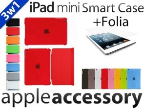3w1 Smart Cover+Back Cover + Folia iPad mini Case