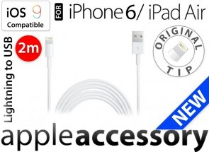 Kabel USB Lightning 2m do Apple Phone 5 6 7 8 X, iPad Air/Air 2,mini/mini2/mini3/mini4