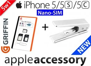 Wycinarka Kart Nano SIM iPhone 5 iPad mini 4 3 adaptery CUTTER