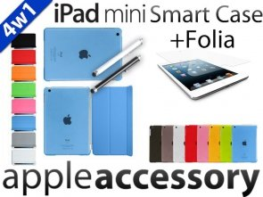 4w1 Smart Cover+Back+Folia+Pen iPad mini Case