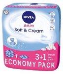 Nivea Baby Chusteczki Soft & Cream 3+1  (4 x 63 szt)