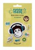 Marion Funny Mask Maseczka na tkaninie energetyzująca Małpa  1szt