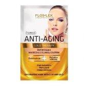 Floslek Anti Aging Gold Therapy Maseczka z glinka i zlotem  5ml x 2