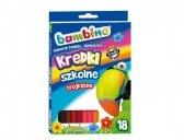 Kredki szkolne trójkątne Bambino 18 kolorów