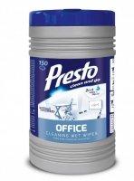 Presto Nawilżane Ściereczki czyszczące 2w1 Office  1op-150szt  (puszka)