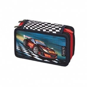 Piórnik potrójny z wyposażeniem Super Racer
