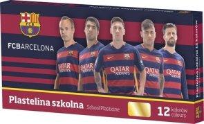 Plastelina szkolna 12 kolorów FC Barcelona