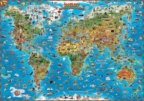 Świat mapa dla dzieci Tuba