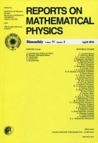 Reports on Mathematical Physics 77/2016 Pergamon