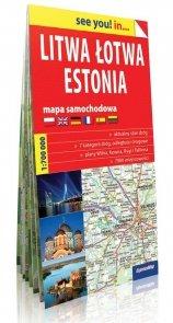 Litwa, Łotwa, Estonia see you! in... mapa samochodowa 1:700 000