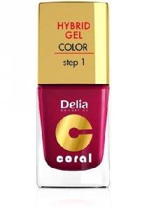 Delia Cosmetics Coral Hybrid Gel Emalia do paznokci nr 06 wiśniowy 11ml