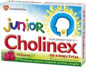 CHOLINEX Junior x 16 past. do ssania