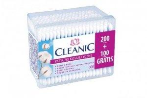 Cleanic Patyczki higieniczne Pudelko kwadratowe 200 + 100 szt