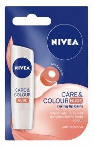 Nivea Lip Care & Color Pomadka ochronna NUDE  4.8g