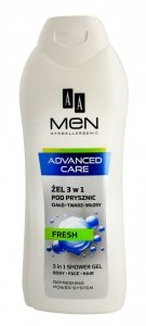 AA Men Adventure Care Żel pod prysznic 3w1 Fresh  400ml