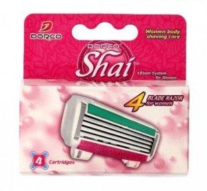 Dorco Shai 4 Wkłady do maszynki systemowej damskiej - 4 ostrza  1op.-4szt