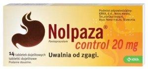 NOLPAZA CONTROL 20mg 14 tabletek