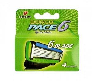 Dorco Pace 6 Wkłady do maszynki systemowej męskiej - 6 ostrzy  1op.-4szt