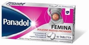 PANADOL FEMINA (VEGANTALGIN H) x 10 tabletek