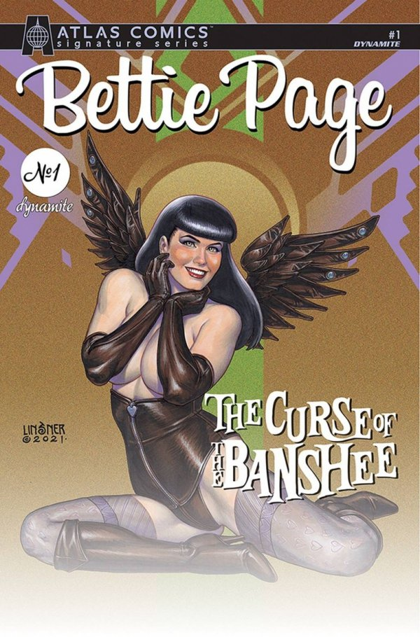 BETTIE PAGE & CURSE OF THE BANSHEE #1 LINSNER SGN ATLAS ED