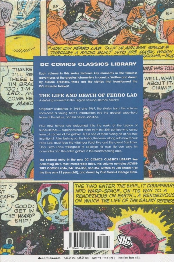 DC COMICS CLASSICS LIBRARY THE LEGION OF SUPER-HEROES THE LIFE AND DEATH OF FERRO LAD HC