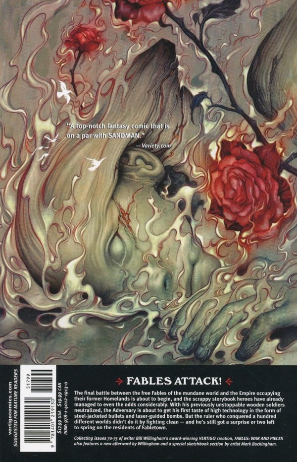 FABLES VOL 11 WAR AND PIECES SC