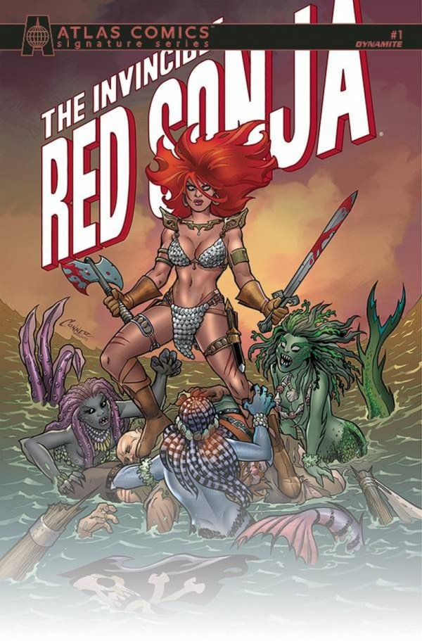 INVINCIBLE RED SONJA #1 PALMIOTTI & CONNER SGN ATLAS ED