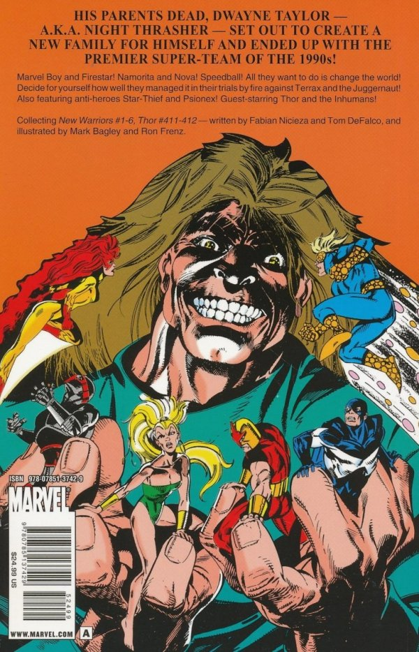 NEW WARRIORS CLASSIC VOL 01 SC