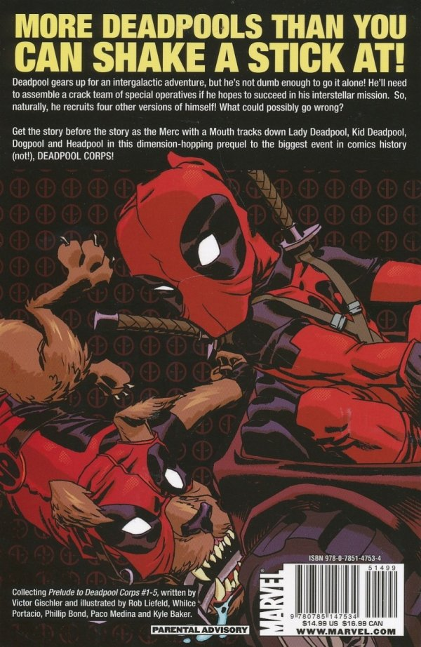 PRELUDE TO DEADPOOL CORPS SC *