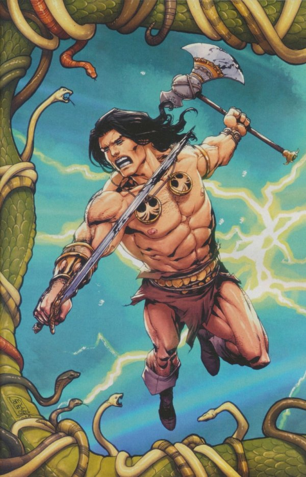 CONAN SERPENT WAR #1 CAMUNCOLI VIRGIN CONNECTING VAR