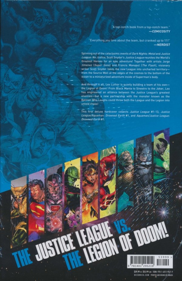 JUSTICE LEAGUE BY SCOTT SNYDER THE DELUXE EDITION VOL 01 HC