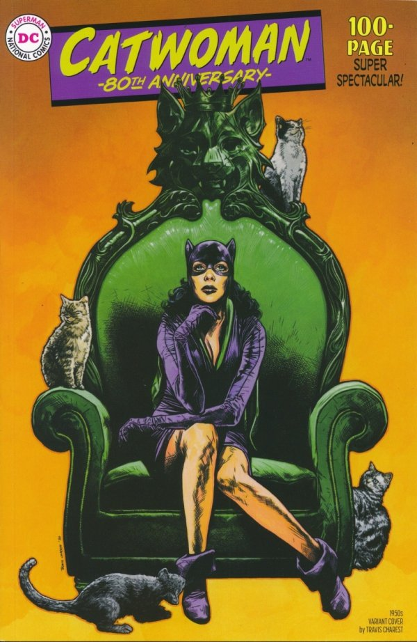 CATWOMAN 80TH ANNIV 100 PAGE SUPER SPECT #1 1950S TRAVIS CHAREST VAR