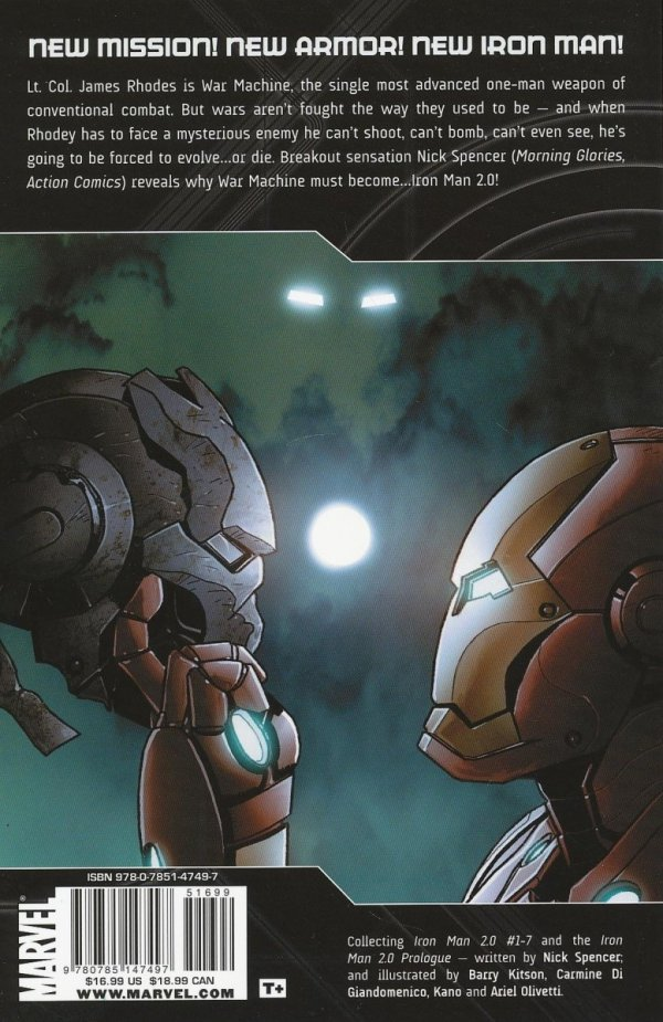 IRON MAN 2.0 VOL 01 PALMER ADDLEY IS DEAD SC