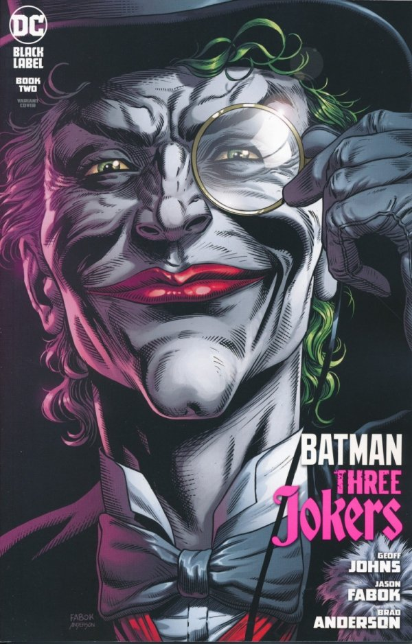 BATMAN THREE JOKERS #2 PREMIUM VAR E DEATH IN THE FAMILY TOP HAT AND MONOCLE