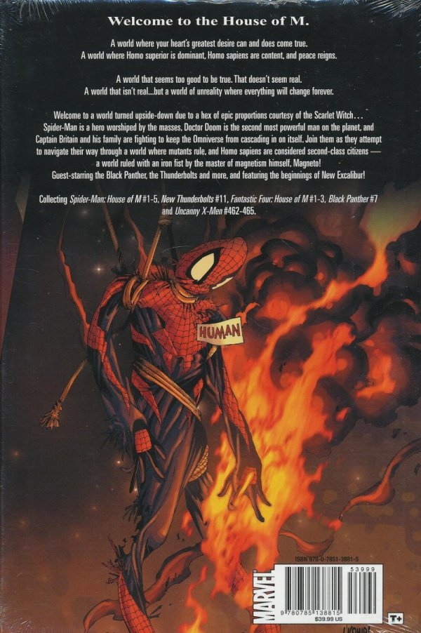 HOUSE OF M SPIDER-MAN FANTASTIC FOUR AND X-MEN HC *