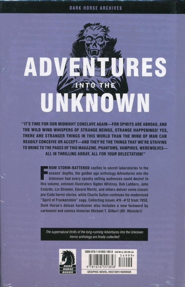 ADVENTURES INTO UNKNOWN ARCHIVES VOL 03 HC **