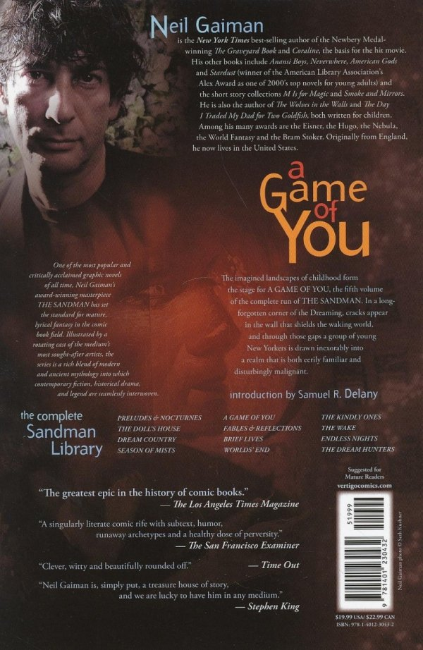 SANDMAN VOL 05 A GAME OF YOU SC (OLD EDITION)