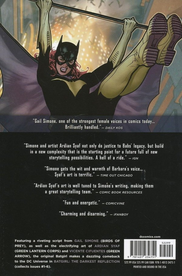 BATGIRL VOL 01 THE DARKEST REFLECTION HC *