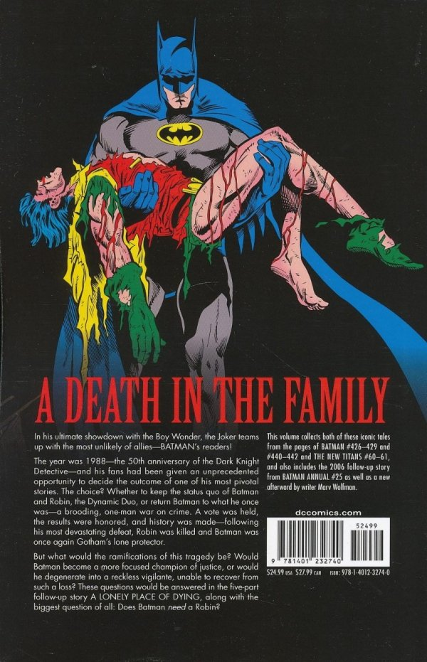 BATMAN A DEATH IN THE FAMILY SC (NEW EDITION) **