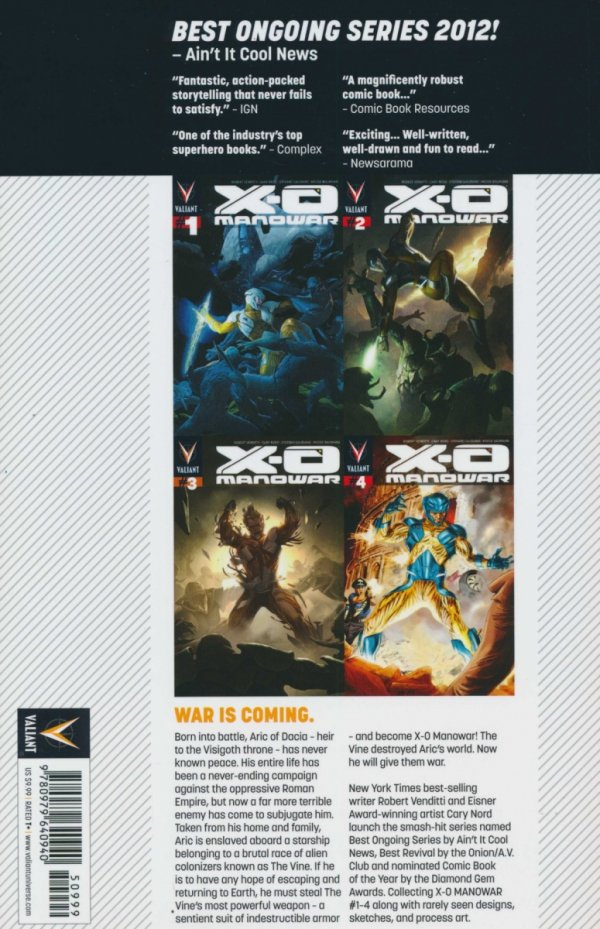 X-O MANOWAR TP VOL 01 BY THE SWORD NEW PTG