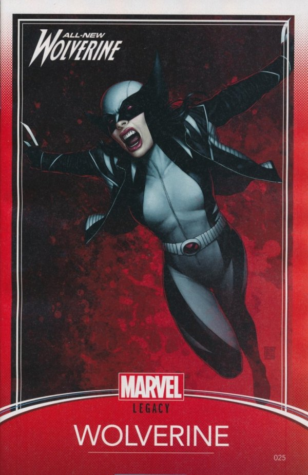 ALL NEW WOLVERINE #25 CHRISTOPHER TRADING CARD VAR