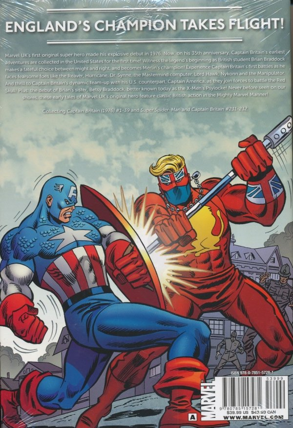 CAPTAIN BRITAIN VOL 01 BIRTH OF A LEGEND HC